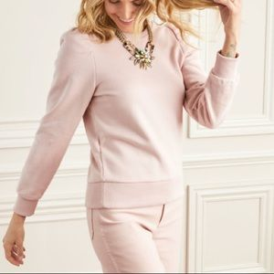 Stella and Dot Pink Puff Sleeve Sweater
